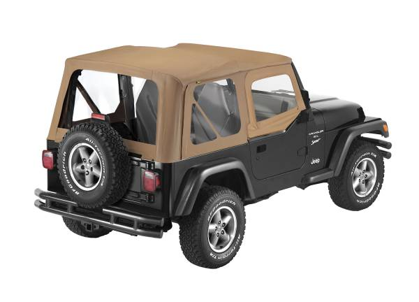 Bestop - Bestop   Replace-A-Top For OEM - '88-95 Wrangler YJ (Spice Sailcloth / Clear Windows / Upper Door Skins Included)   79120-37