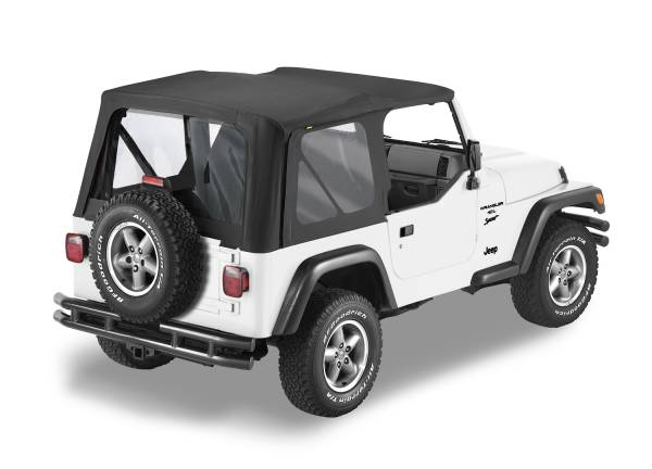 Bestop - Bestop   Replace-A-Top For OEM - '97-02 Wrangler TJ (Black Sailcloth / Clear Windows / No Door Skins Included)   79122-01
