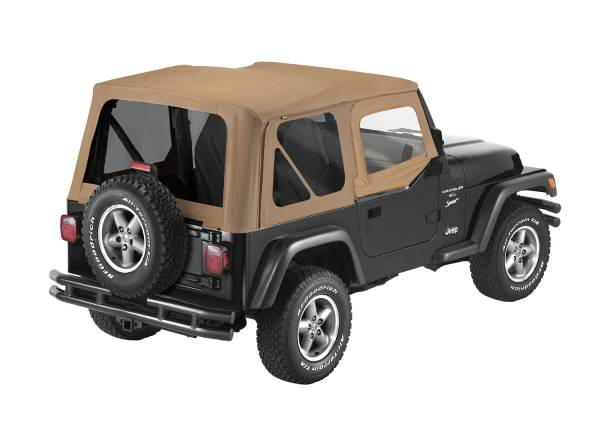 Bestop - Bestop | Replace-A-Top For OEM - '97-02 Wrangler TJ (Spice Sailcloth / Tinted Windows / Upper Door Skins Included) | 79124-37