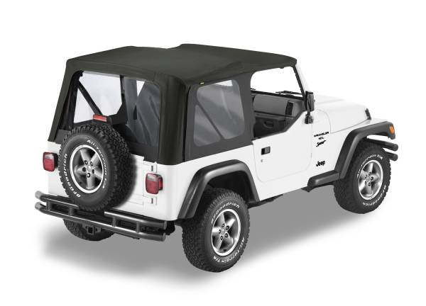 Bestop - Bestop | Replace-A-Top For OEM - '03-06 Wrangler TJ Exc. Unlimited (Black Diamond Sailcloth / Clear Windows / No Door Skins Included) | 79125-35