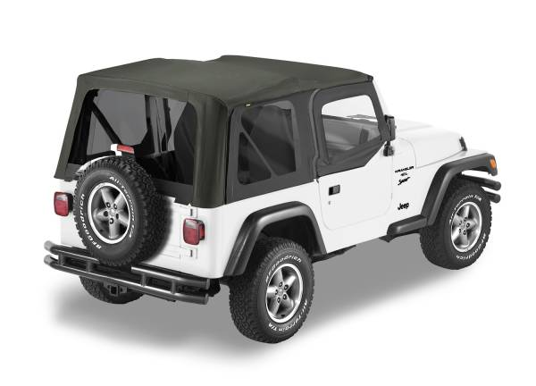 Bestop - Bestop   Replace-A-Top For OEM - '03-06 Wrangler TJ Exc. Unlimited (Black Diamond Sailcloth / Tinted Windows / Upper Door Skins Included)   79129-35