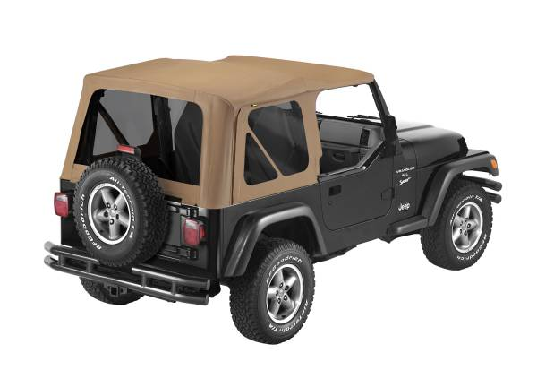 Bestop - Bestop   Replace-A-Top For OEM - '97-02 Wrangler TJ (Spice Sailcloth / Tinted Windows / No Door Skins Included)   79139-37