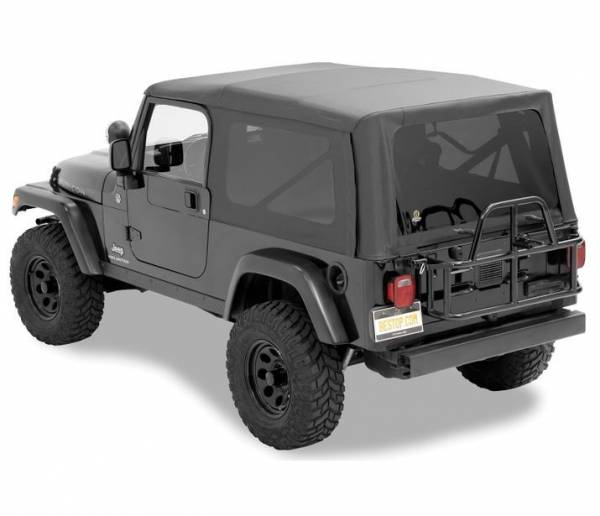 Bestop - Bestop   Replace-A-Top For OEM - '04-06 Wrangler TJ Unlimited (Black Diamond Sailcloth / Tinted Windows / No Door Skins Included)   79140-35