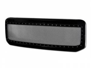 Armordillo USA | 2005-2007 Ford F250 F350 Stud Black Wire Mesh Grille W/Abs Shell W/Abs Chrome Rivet (Black) | 7165274