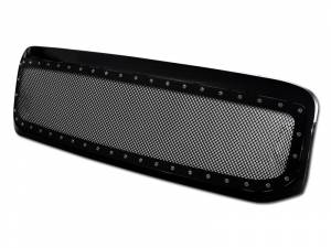 Armordillo USA | 1999-2004 Ford F250 F350 Stud Black Wire Mesh Grille W/Abs Shell W/Abs Chrome Rivet (Black) | 7165281