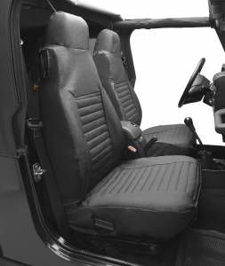 Bestop   Seat Covers - '92-94 Wrangler YJ Front (Charcoal / Gray)   29224-09