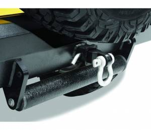 """Bestop   HighRock 4x4 Receiver Hitch Insert with Shackle - Universal (Black Fits any 2"""" receiver hitch Hitch pin not included)   42922-01"""