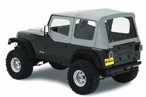 Bestop | Replace-A-Top For OEM - '88-95 Wrangler YJ (Charcoal / Gray / Clear Windows / Door Skins Included) | 51120-09