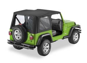 Bestop | Replace-A-Top For OEM - '03-06 Wrangler TJ Exc. Unlimited (Black Diamond / Clear Windows / No Door Skins Included) | 51178-35