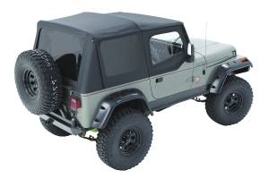 Bestop | Replace-A-Top For OEM - '88-95 Wrangler YJ (Black Sailcloth / Tinted Windows / Upper Door Skins Included) | 79123-01