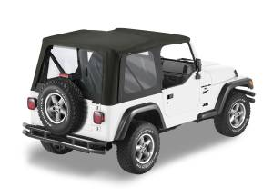 Bestop | Replace-A-Top For OEM - '03-06 Wrangler TJ Exc. Unlimited (Black Diamond Sailcloth / Clear Windows / No Door Skins Included) | 79125-35