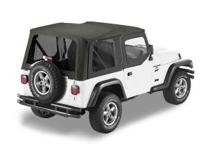Bestop | Replace-A-Top For OEM - '03-06 Wrangler TJ Exc. Unlimited (Black Diamond Sailcloth / Tinted Windows / Upper Door Skins Included) | 79129-35