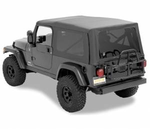 Bestop | Replace-A-Top For OEM - '04-06 Wrangler TJ Unlimited (Black Diamond Sailcloth / Tinted Windows / No Door Skins Included) | 79140-35