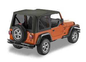 Bestop | Replace-A-Top For OEM - '03-06 Wrangler TJ Exc. Unlimited (Black Diamond Sailcloth / Tinted Windows / No Door Skins Included) | 79141-35