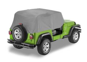 Bestop | All Weather Trail Cover - '76-86 CJ7 / '87-91 Wrangler YJ (Charcoal / Gray) | 81035-09