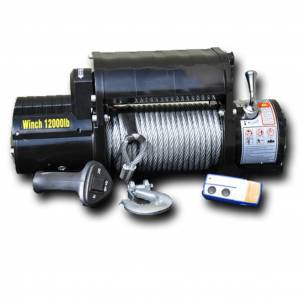 DV8 Offroad   12,000 lbs. Winch with Steel Cable   WB12SC