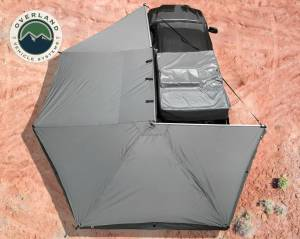Nomadic Awning 270 - Dark Gray Cover With Black Transit Cover Driver Side & Brackets