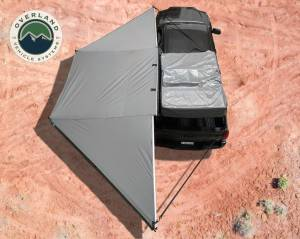 Nomadic Awning 180 - Dark Gray Cover With Black Transit Cover & Brackets