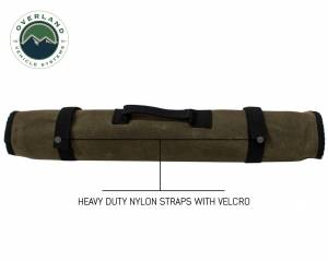 Rolled Bag Socket With Handle And Straps - #16 Waxed Canvas
