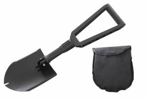 Multi Functional Military Style Utility Shovel with Nylon Carrying Case