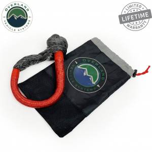 """Soft Shackle 5/8"""" 44,500 lb. With Loop & Abrasive Sleeve - 23"""" With Storage Bag"""