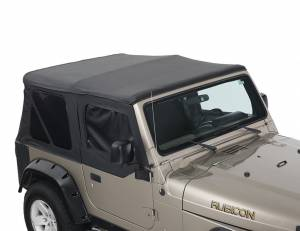 Replacement Soft Top With Upper Doors - Black Diamond - TJ