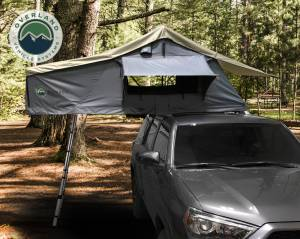 Nomadic 2 Extended Roof Top Tent - Dark Gray Base With Green Rain Fly & Black Cover