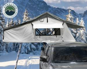 Nomadic 3 Extended Roof Top Tent - White Base With Dark Grey Rain Fly & Black Cover