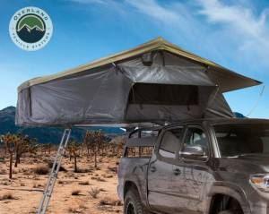 Nomadic 3 Extended Roof Top Tent - Dark Gray Base With Green Rain Fly & Black Cover