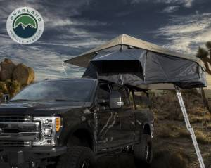 Nomadic 4 Extended Roof Top Tent - Dark Gray Base With Green Rain Fly & Black Cover